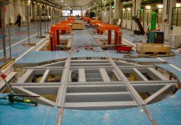 Montage einer Drehscheibe für Zugdrehgestelle