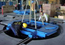 Montage Drehscheibe für Zugdrehgestelle