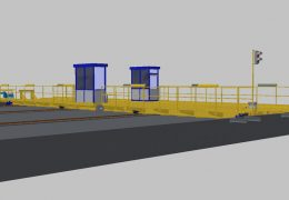 Plans for a moving platform for trains