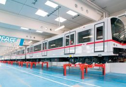 Underfloor rolling stock lifting facility