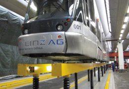 Solebar lifting facility, Linz AG tram system